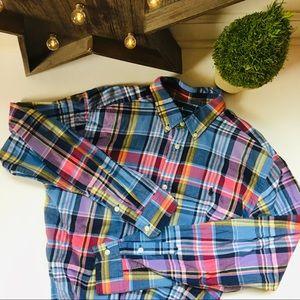 Ralph Lauren Boys Long Sleeve Madras Shirt XL18-20